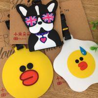 韩国可爱表情系列 表情鸡 原宿风狗狗鸭子动物行李牌 箱包吊牌