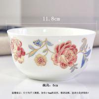 维奥多陶瓷家用米饭碗 骨瓷小汤碗 粥碗 厂家定制创意婚庆礼品餐具log