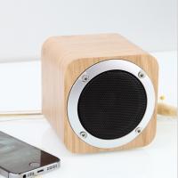 清木集市木质蓝牙音箱重低音炮插卡无线收音机桌面复古迷你小音响