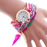 国际站绕圈手链表时尚女士水钻绕圈手表装饰表女士手表石英手表