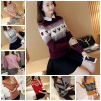 工厂女装毛衣韩版针织衫女 时尚女士针织毛衣 库存地摊女式厚款保暖毛衣