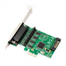 PCI-E转4串口卡4个RS232信号端口 一拖四多串口卡 多路4口COM卡