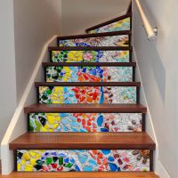 Funlife彩色石路墙贴卧室创意楼梯贴3D立体北欧速卖通跨境FS072