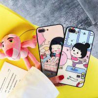 可爱吃货 瑜伽 女孩iphone 7手机壳8 plus玻璃壳软边苹果 x防摔女