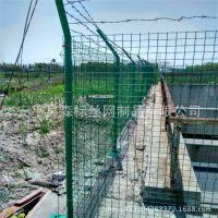 铁丝道路隔离护栏|道路防护铁丝围栏网价格|桥梁防护黑铁丝网片