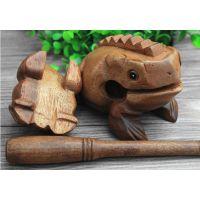 发声招财蛙纪念品蛙景区木青蛙木鱼手工艺品摆件实木木头木质蟾蜍
