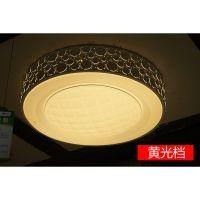 雷.士照明现代简约LED吸顶灯圆形卧室灯创意餐厅书房阳台灯具灯饰