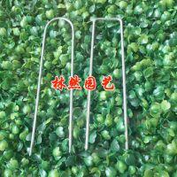 园艺绿色卡扣 户外铁钉 草坪固定钉 金属地膜钉 地毯固定钉紧固钉