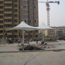 汉中供应新款弧形膜结构充电桩车棚雨棚遮阳棚