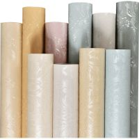 墙纸自粘卧室温馨壁纸防水pvc纯色欧式家具墙贴纸大马士革翻新贴