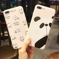 雅正 苹果6手机壳iPhone6s硅胶套6plus挂绳卡通可爱熊猫六s女款硬