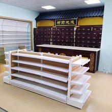 高端连锁药店西药单面货架 处方双面架阴凉区展架中药柜玻璃柜台收银台