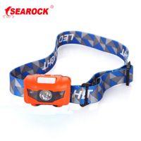 海岩户外头戴式防水LED强光充电池露营登山徒步夜红白光头灯低价