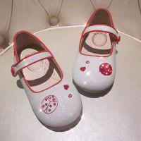 2018夏季童鞋新款女鞋白色亮片魔术贴儿童软底公主宝宝单鞋批发