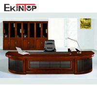 厂家直销气派弧形老板桌 时尚简约大班台中纤板贴纸喷油大办公桌