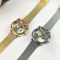 hellokitty手表 儿童手表凯蒂猫头型石英手表网带