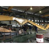 加腾挖掘机加长臂水利工程,柳工长臂挖机,两段加长臂情况