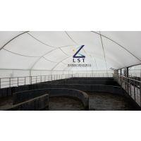 污水池保温加盖—污水池密封罩,除臭罩-反吊膜加盖造价