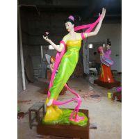 人物雕塑纯铜彩绘雕塑