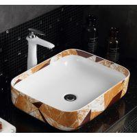 长方形陶瓷卫浴直销一体式洗漱间洗手盆