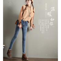 批发几块钱牛仔裤女装长裤冬季加绒牛仔裤哪里有工厂尾货批发