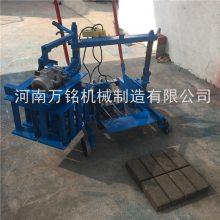 河南水泥预制门头砖机设备 实心块免烧铺路砖机设备万铭机械专业生产