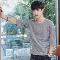 短袖t恤男士纯棉圆领纯色宽松青少年休闲青年年全棉汗衫打底衫