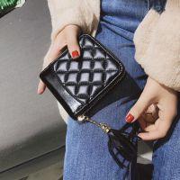 批发钱包2018夏季新款韩版时尚女式菱格手拿包跨境拉链短款钱夹