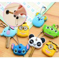 韩国可爱动物钥匙套 卡通软胶钥匙套 萌布斯钥匙链挂件
