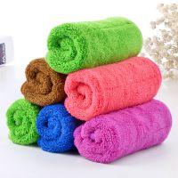 韩润斯珊瑚绒抹布双面吸水不掉毛厨房清洁巾25*30