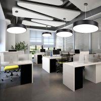 简约现代led创意实心空心圆形吊线灯办公室工程网吧工作室Y型灯具