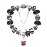 ebay速卖通新款 合金镶钻爱心diy琉璃珠手链 外贸饰品 跨境货源