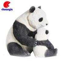 树脂熊猫摆件 深圳老厂专业定制园林可爱装饰品大熊猫动物