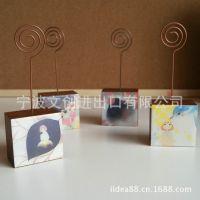 韩国文具 SV13-096花与星空木制滴胶留言夹/工艺品