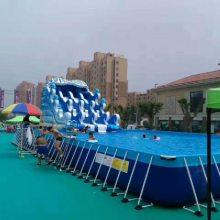 湖北黄石移动支架水池游泳池充气水乐园