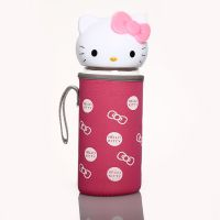 热销高硼硅卡通KT猫玻璃杯创意可爱猫头儿童水杯批发可定制LOGO