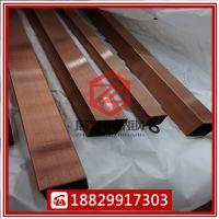 304不锈钢玫瑰金方管 圆管 拉丝 黑钛金黄钛金不锈钢管