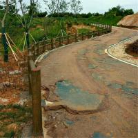 专业供应水泥仿木栏杆 生态仿树皮护栏 扇形护栏定制