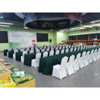 北京会议桌子出租 1.2米条桌 军绿色桌布桌群租赁