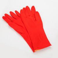 短款加厚加绒毛手套 橡胶洗涤手套做家务用清洁手套