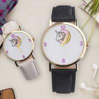 ebay速卖通热卖 甜圈独角兽男生女生学生手表卡通儿童皮带手表