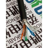 六类柔性拖链网络线8芯0.2平方耐折磨抗干扰屏蔽工业拖链耐油耐磨防水