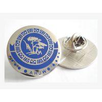 布纹徽章定制,镀银年会胸章生产,武汉制作徽标厂