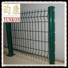厂家供应3D挂钩式护栏网/小区栏网/桃形柱防护网 昀康丝网厂