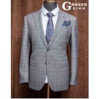 格林瑞 源自英国萨维尔街的高端西装订制品牌 双排两粒扣真丝修身商务西服套装