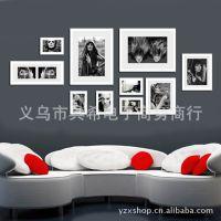 外贸相框墙 全黑色照片墙 艺术照相框 客厅异行摆设 家居相框xk10