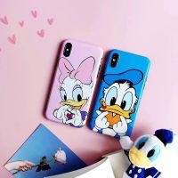卡通大眼鸭子iphone8p光面硅胶苹果7手机壳全包防摔6s软壳X保护套