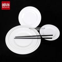 白色密胺塑料盘圆碟 酒店餐饮用品 日韩料理式仿瓷餐具批发