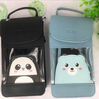 2018年新款~韩版可爱动物系列 熊猫 小熊透明斜挎手机包 旅行包袋
