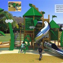 木质组合滑梯幼儿园小区木质海盗船旅游景区游乐设备室外儿童乐园非标定制